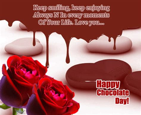 smiling  moment  chocolate day ecards greeting cards