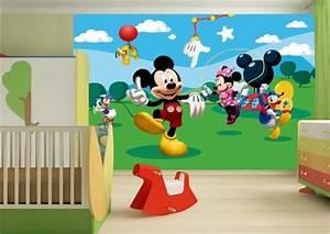 Micky Maus Wandtattoo : fototapete tapete disney mickey mouse micky maus kindertapete foto 360 cm x 254 cm ~ Orissabook.com Haus und Dekorationen