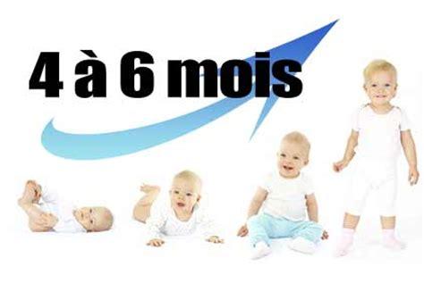 bebe 6 mois assis le d 233 veloppement de l enfant de 4 224 6 mois