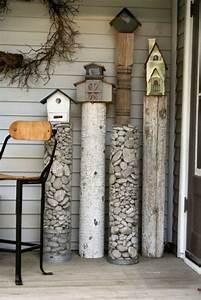 Gartendeko Aus Altem Holz : gartendeko basteln naturmaterialien 35 beispiele wie sie den garten aufpeppen ~ Frokenaadalensverden.com Haus und Dekorationen