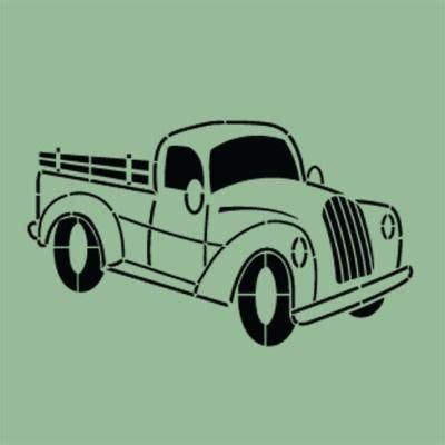 retro vintage truck stencil signs stencils stencils