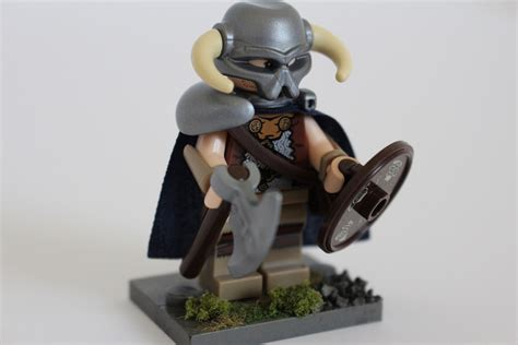 castle siege flash custom lego minifigure of the week dovahkiin by joey g