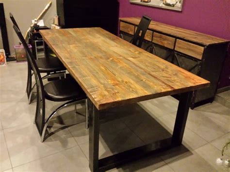table a manger style industriel pas cher table de salle 224 manger style industriel acier et bois mobilier style industriel