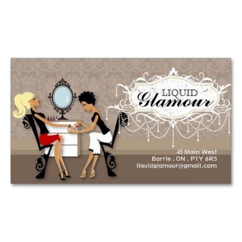 nail salon business card  great business card design