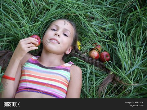 Preteen Girl Apples Image And Photo Bigstock