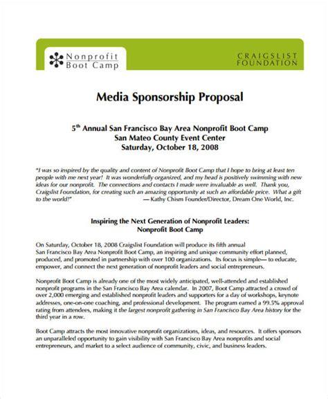 sponsorship proposal examples word