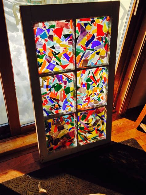 newest window   scrap stained glass  pour