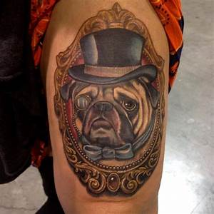 Mike Ashworth pug portrait | Tattoo - Dogs | Pinterest ...