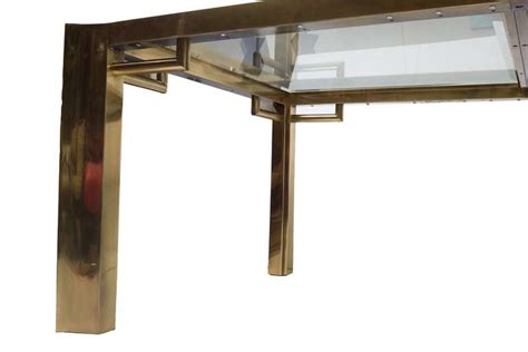Mastercraft Brass Dining Table By William Doezma