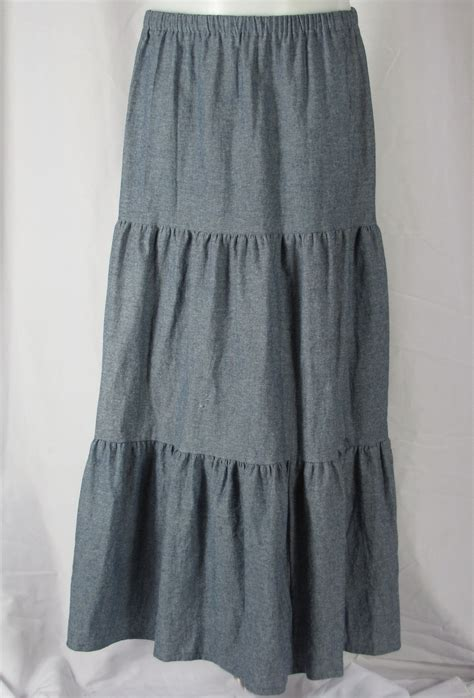 midi tiered skirt tiered denim skirt redskirtz