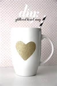 Glitter Heart DIY Mug