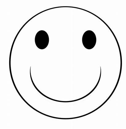 Smiley Face Coloring Template Pages Blank Sketch
