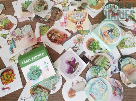 DIY ปกสมุดด้วย sticker ไม้อวบน้ำกัน - Succulent Diaries