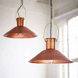 Copper pendant light cable preserve and