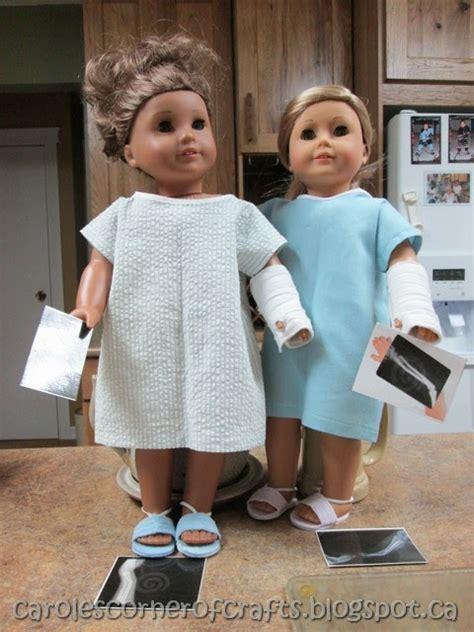 caroles corner  crafts american girl doll hospital
