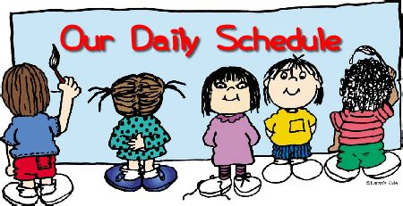 schedule clipart free daily schedule home