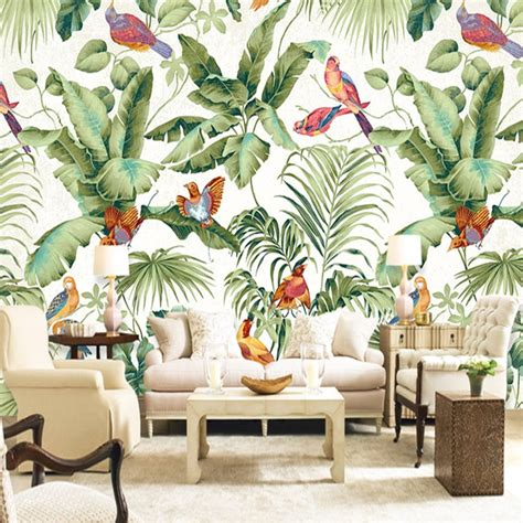 custom mural wallpaper european style tropical rainforest