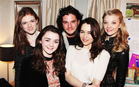 Rose Leslie, Maisie Williams, Kit Harington and Natalie ...