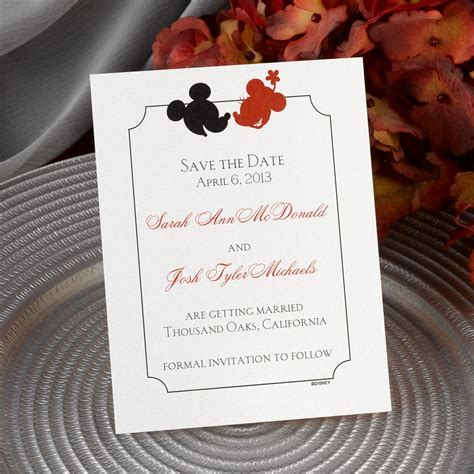 disney  boy save  date card mickey mouse