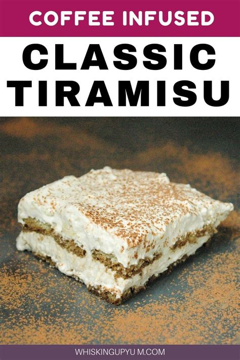 If i had to describe it to a lay person, i would say it's a layered, creamy dessert with a wonderful coffee flavor in the background. Classic Creamy Tiramisu | Coffee Flavored Dessert | Whisking Up Yum