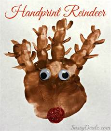 handprint reindeer christmas craft for kids paint project crafty morning