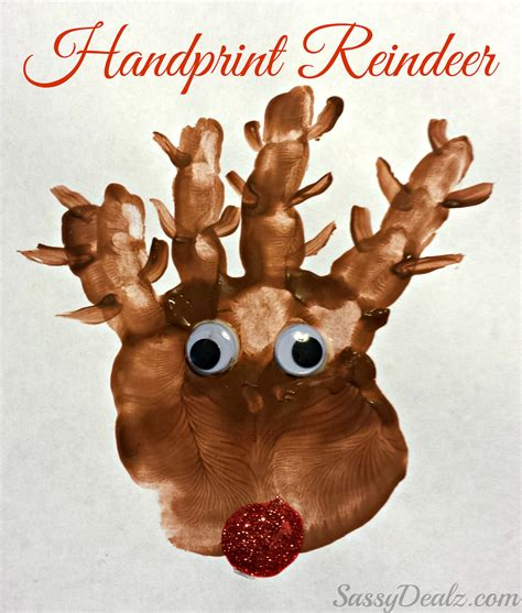 handprint reindeer christmas craft for kids paint project