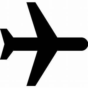 Avión negro Iconos gratis de transporte