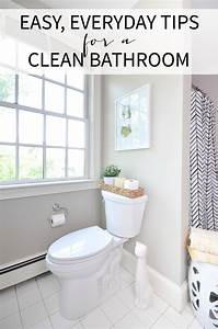 Easy tips for a clean bathroom the chronicles of home for How much to gut a bathroom