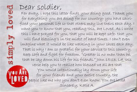 letters to soldiers letter to a soldier levelings 79990