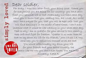 letter to a soldier levelings With sending letters to our troops