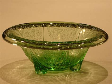 green depression glass pattern identification