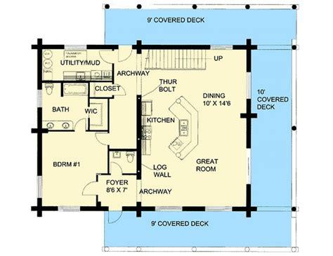 plan lsggh  bedroom  bath log home plan