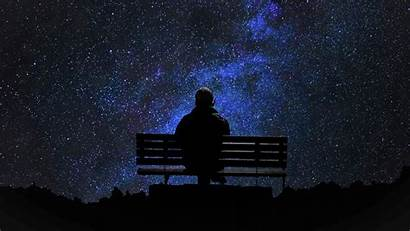 Alone Wallpapers Lonely Night Sky Stars Bench