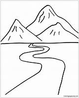 Road Pages Mountain Coloring Foot Printable Print sketch template