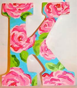 lilly pulitzer inspired letters lilly pulitzer etsy and With lilly pulitzer letters