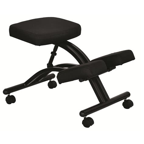 ergonomically designed knee chair with casters and memory