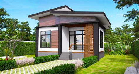 tropical small house plan build   square meters