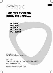 Daewoo Dlp 20d3n Tv   Television Download Manual For Free