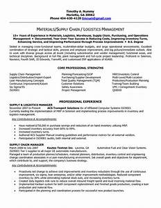 supply chain resume templates supply chain manager in With supply chain coordinator resume sample