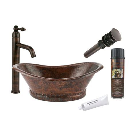 lowes kitchen sink faucets shop premier copper products rubbed bronze copper