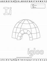 Igloo Coloring Pages Template Abc Learn Letter Printable Worksheets Preschool Alphabet Fun Preschoolers sketch template