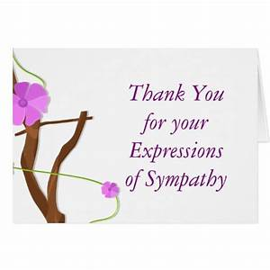Floral memorial thank you for your sympathy card zazzle for Thank you note for condolence gift