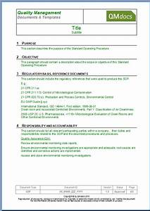 standard operating procedure template sop template form With operational guidelines template