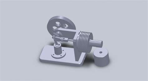 Двигатель стирлинга для 3d принтера скачать бесплатно 3д модель в формате stl или gcode