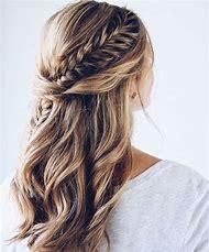 Fishtail Braid Half Up Half Down Hairstyle