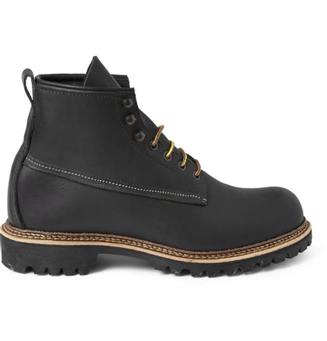 red wing ice cutter leather boots  black  men lyst