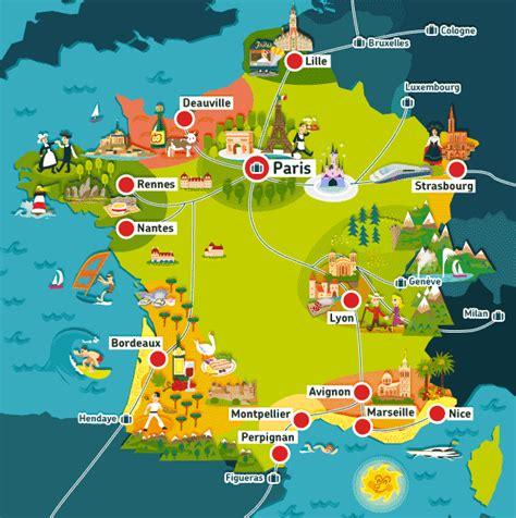 Carte De Avec Principales Villes A Imprimer by Carte De Villes E Imprimer