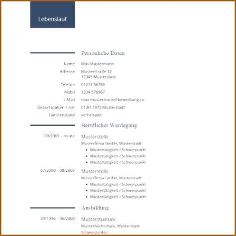 Lebenslauf Vordruck by 19 Lebenslauf Vordruck Zum Ausfullen Vorlagen123