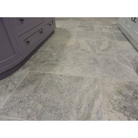 silver tumbled travertine tiles fittonoaketiles