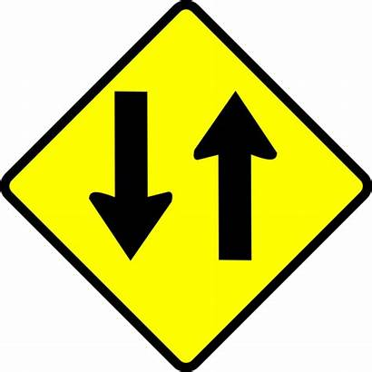 Way Street Clip Caution Vector Svg